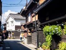 Historic street in Takayama, Japan Stock Photography