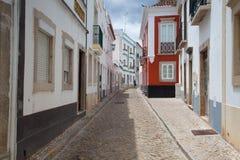 Historic street in Tavira city Stock Photography