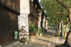 The historic street and traditional building besides Yuehe Old Street(Jiaxing,Zhejiang) Royalty Free Stock Photos