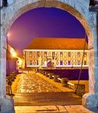 Historic street of Varazdin evening view Stock Photos