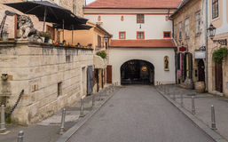 Historic street in Zagreb, capital of Croatia Royalty Free Stock Photography