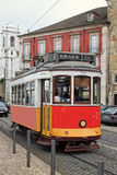 Historic streetcar in Alfama Lisbon Stock Photography