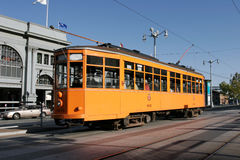 Historic Streetcar in San Francisco. Peter Witt Streetcar from Milan, Italy in regular service Royalty Free Stock Images