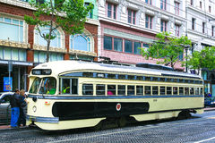 Historic Streetcar in San Francisco Stock Image