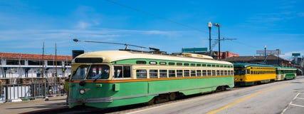 Historic streetcars Stock Photo