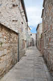 Historic streets of Stari Grad town in Croatia Royalty Free Stock Image