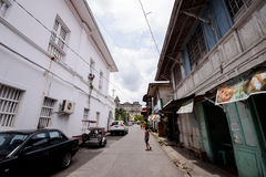 Historic  streets of Taal, Batangas, Philippines Royalty Free Stock Images
