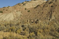 Historic Structure. Historic western ranching and settlers cabin in the sage brush of Colorado Royalty Free Stock Photo