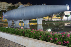Historic submarine built in 1888 by Isaac Peral Stock Photo