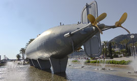Historic submarine built in 1888 by Isaac Peral Stock Photography