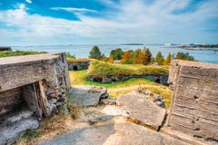 Historic Suomenlinna, Sveaborg maritime fortress Royalty Free Stock Photography