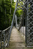 Historic Suspension Bridge - Mill Creek Park, Youngstown, Ohio Stock Photos
