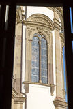 Historic tall church window Royalty Free Stock Images