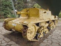 Historic tank in pubblic park `La Rocca` Bergamo. Historic tank in pubblic park `La Rocca` Bergamo, Lombardy, Italy Stock Photos