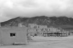 The historic Taos Pueblo Stock Photography