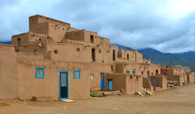 The historic Taos Pueblo Royalty Free Stock Photo