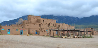 The historic Taos Pueblo Royalty Free Stock Photo