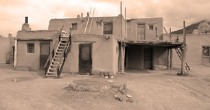 The historic Taos Pueblo Stock Photography