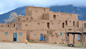 The historic Taos Pueblo Stock Photo