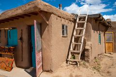 Historic Taos Pueblo, Taos, New Mexico royalty free stock image