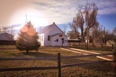 Historic Tarryall Schoolhouse near Wiggins CO Stock Photography