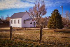 Historic Tarryall Schoolhouse near Wiggins CO Stock Images