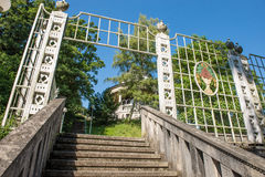 Historic tea house in the Weissenburgpark in the city of Stuttga Royalty Free Stock Photo