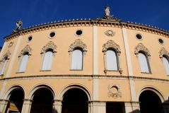 Historic Teatro Verdi in Padua in the Veneto Italy. Photo made at the Teatro Verdi of Padua in Veneto Italy. In the picture you see, illuminated by the sun, the stock photography