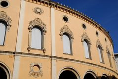 Historic Teatro Verdi in Padua in the Veneto (Italy). Photo made at the Teatro Verdi of Padua in Veneto (Italy). In the picture you see, illuminated by the sun royalty free stock photo