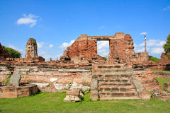 The historic temple in Ayutthaya, Thailand Stock Photos