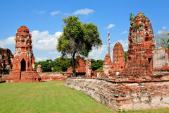 The historic temple in Ayutthaya, Thailand Stock Photo