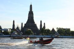 Historic temple in Thailand called Wat Arun Stock Images