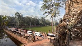 Historic temple in cambodia stock video footage
