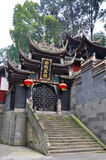 Historic temple in Dujiangyan, Sichuan, China Royalty Free Stock Image