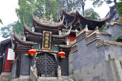 Historic temple in Dujiangyan, Sichuan, China Royalty Free Stock Photos