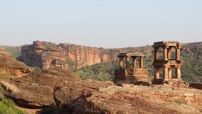 Historic temple near Badami Stock Image