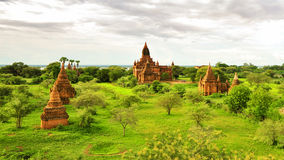 Historic temples in Bagan Stock Photography