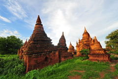 Historic temples in Bagan Stock Photo