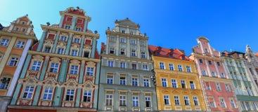 The historic tenement houses - Poland Royalty Free Stock Photo