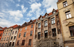 Historic Tenement Houses in Torun Old Town Stock Image