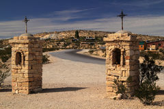 Historic Terlingua Ghostown. A former mining community in the Big Bend region of Texas royalty free stock images