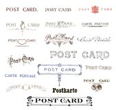 Historic text elements from postcards Royalty Free Stock Photography