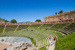 Historic theatre arena of Taormina Royalty Free Stock Photos