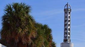 Historic Tiffany Hotel Miami Beach. 4k video of the Tiffany Hotel beacon in Miami Beach stock footage