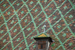 Historic tiled rooftop Stock Image