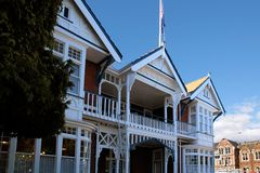 Historic timber house in Christchurch Royalty Free Stock Images