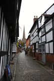 Historic Timbered Buildings, Ledbury, Herefordshire, England. royalty free stock photos