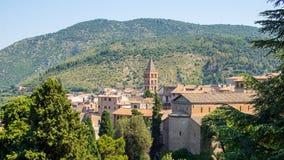 Historic Tivoli, Italy. Historic Tivoli old town, an ancient Roman holiday resort, in mountains near Rome, Italy Royalty Free Stock Image