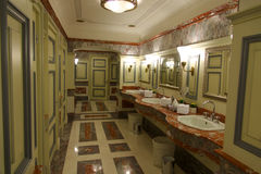 Historic toilet and washroom in Moscow. Stock Images