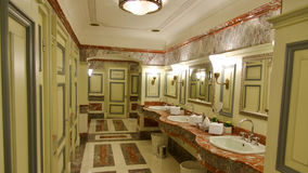 Historic toilet and washroom in Moscow. Royalty Free Stock Images
